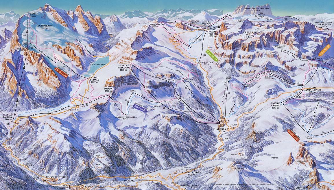 Arabba In Winter Livinallongo Del Col Di Lana Ski